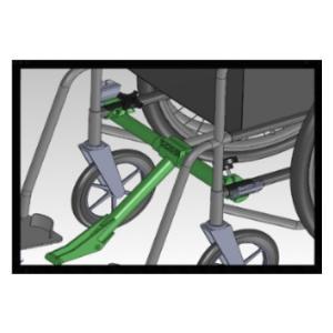 Adaptateur roue FreeWheel pour fauteuil roulant pliant