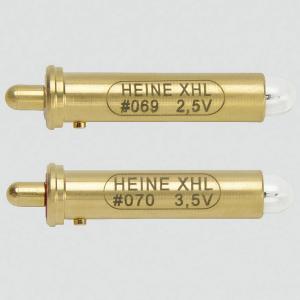 Ampoule HEINE 2,5V n° 069 ou 3,5V n° 070 pour ophtalmoscope BETA 200