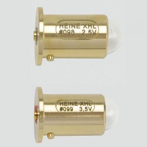 Ampoule HEINE 2,5V n° 098 ou 3,5V n° 099 pour lampes à fente, à main et Alpha +