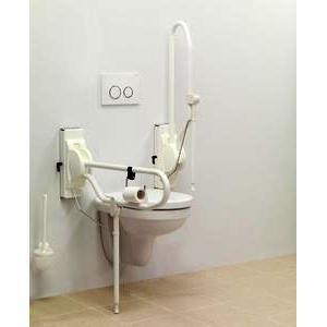 Barre d'appui rabattable LINIDO pour salle de bain et toilettes