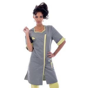 Tunique médicale femme, Lyana graphite-tilleul