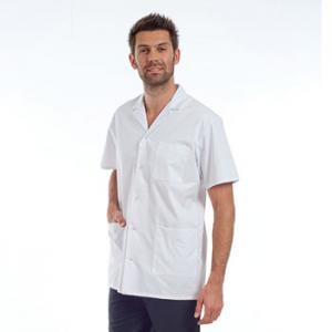 Chemisette médicale Homme, col tailleur