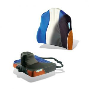 Dosseret et coussin avec butée réglable pour fauteuil roulant