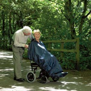 Imperméable sans manche pour fauteuil roulant