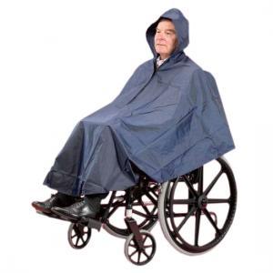 Cape imperméable doublée pour fauteuil roulant et scooter
